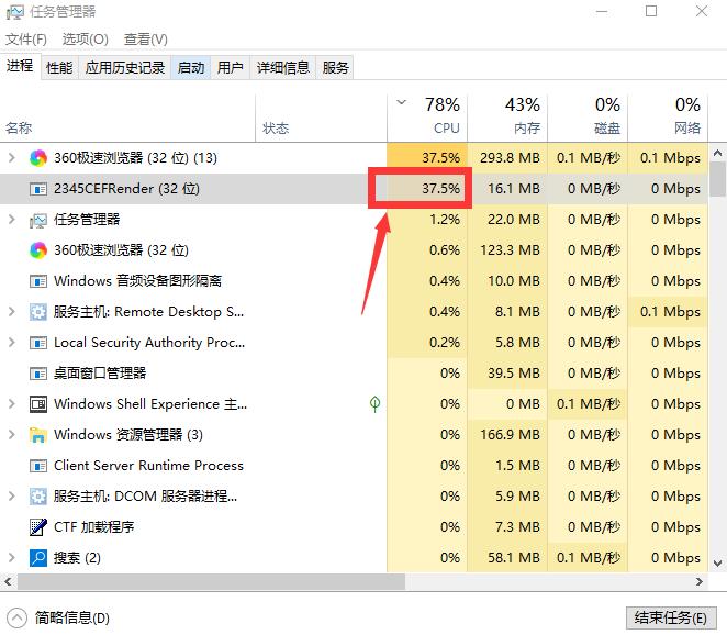 看图王2345CEFRender占用CPU率高 MiniPage_2345